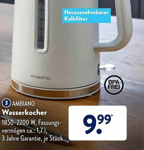 ALDI SÜD Ambiano Wasserkocher