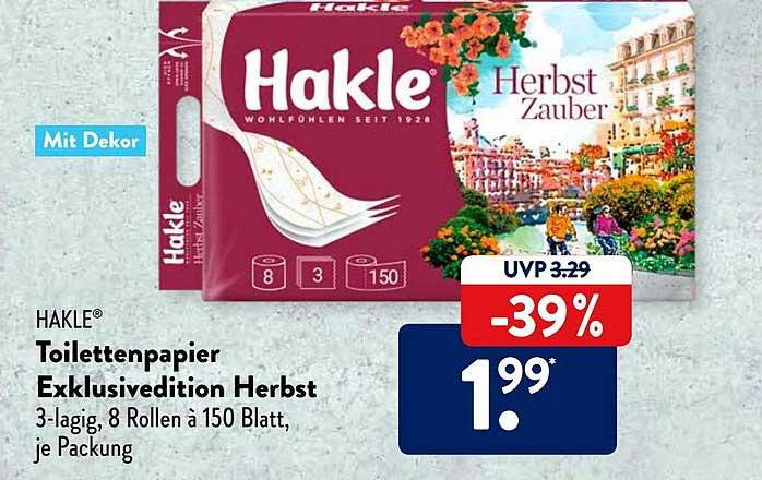 ALDI SÜD Hakle Toilettenpapier Exklusivedition Herbst