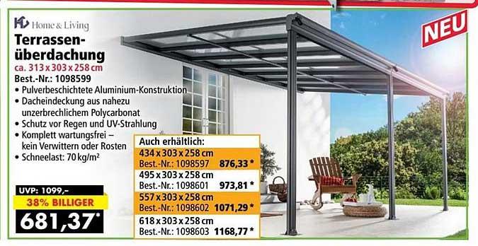 Norma24 Hc Home & Living Terrassenüberdachung
