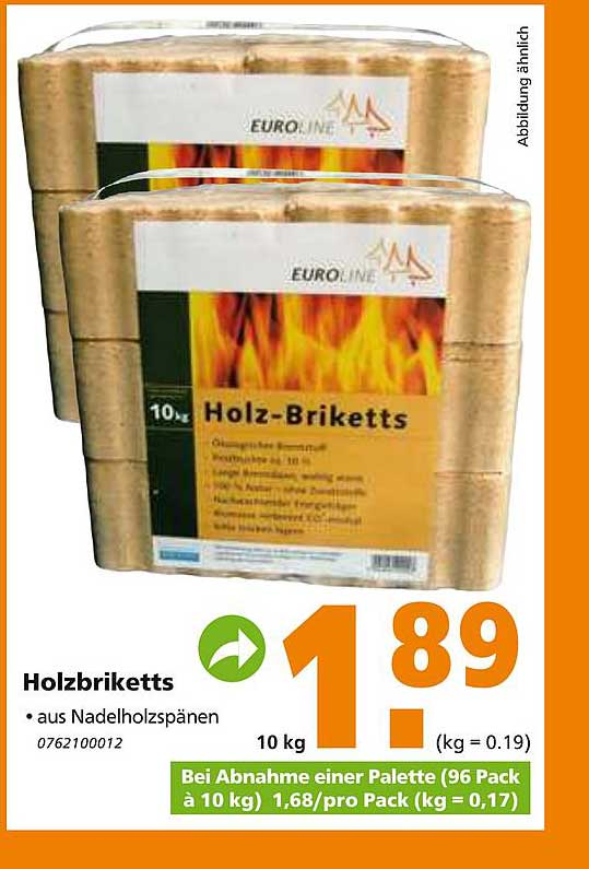 Globus Baumarkt Euroline Holzbriketts