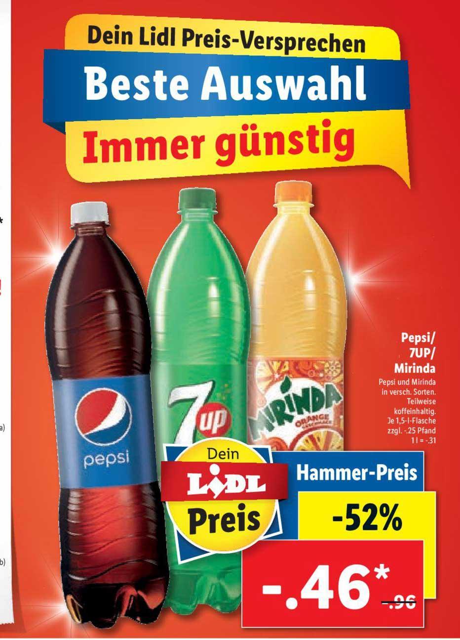 Lidl Pepsi- 7up - Mirinda