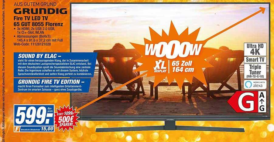 HEM Expert Grundig Fire Tv Led Tv 65 Gut 8055 Florenz