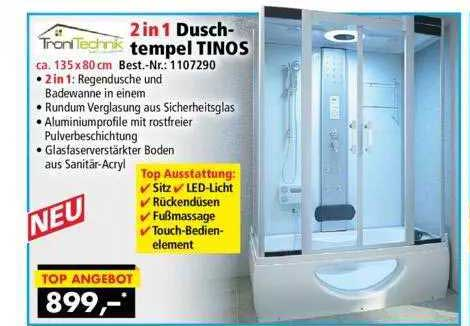 Norma24 Tronitechnik 2in1 Duschtempel Tinos