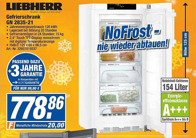 Expert Techno Land Liebherr Gefrierschrank Gn283521