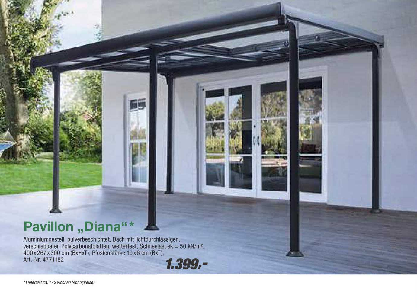"""Toom Baumarkt Pavillon """"diana"""""""