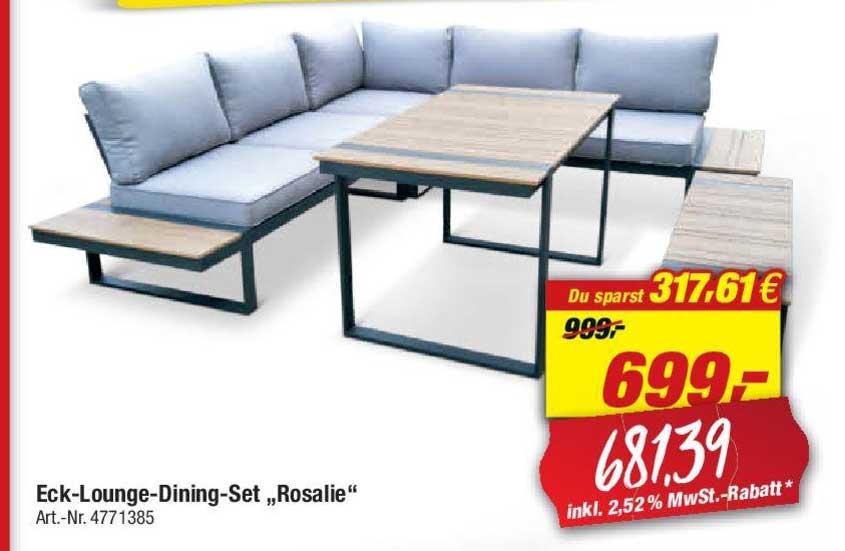 """Toom Baumarkt Eck Lounge Dining Set """"rosalie"""""""