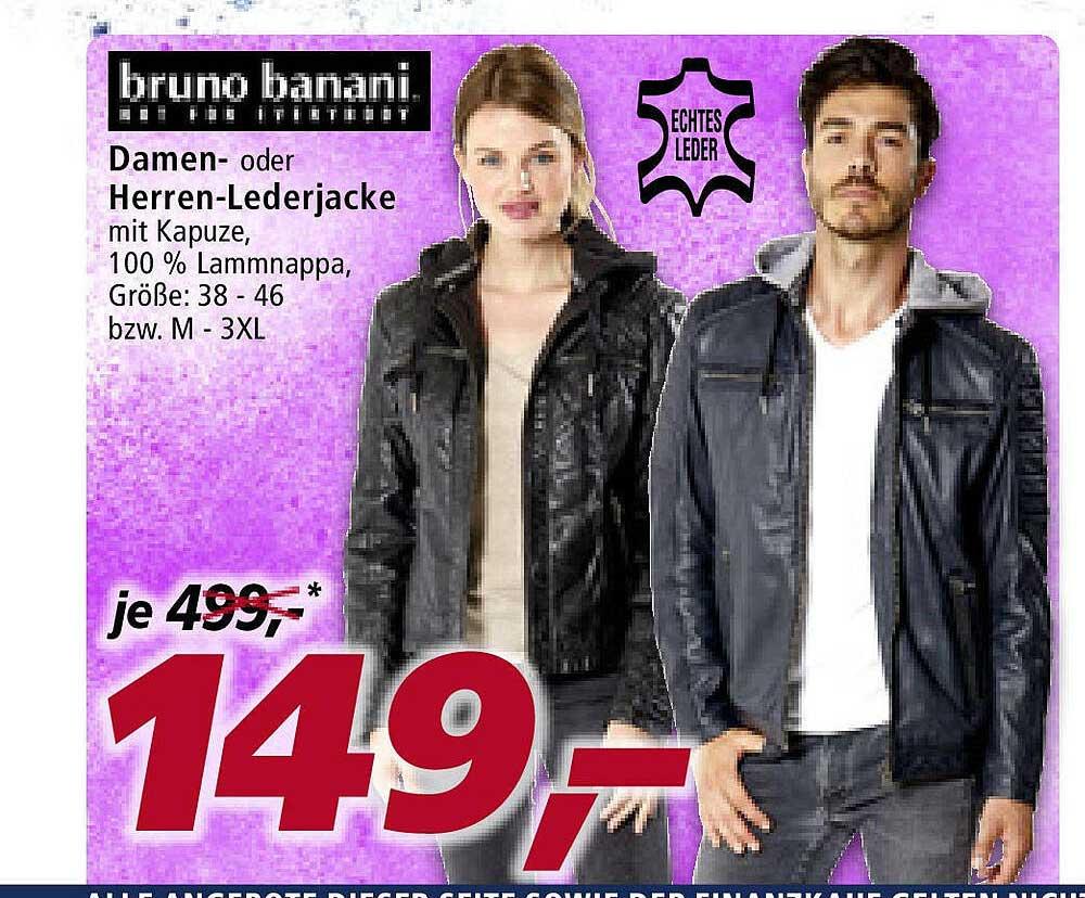 Real Bruno Banani Damen- Oder Herren-lederjacke