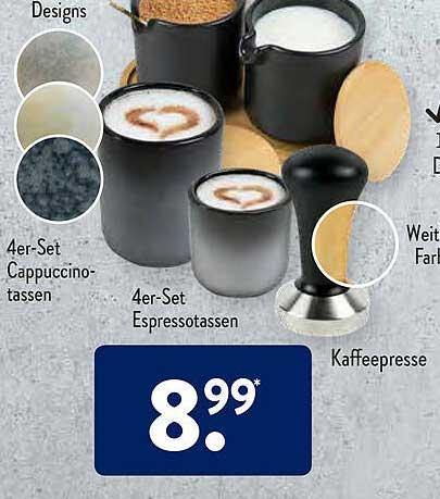 ALDI SÜD Cappuccinotassen Oder Espressotassen Oder Kaffeepresse