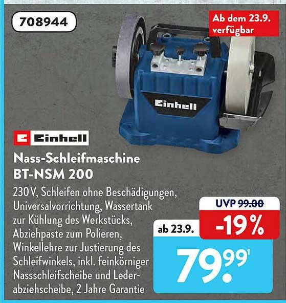 ALDI SÜD Einhell Nass-schleifmaschine Bt-nsm 200
