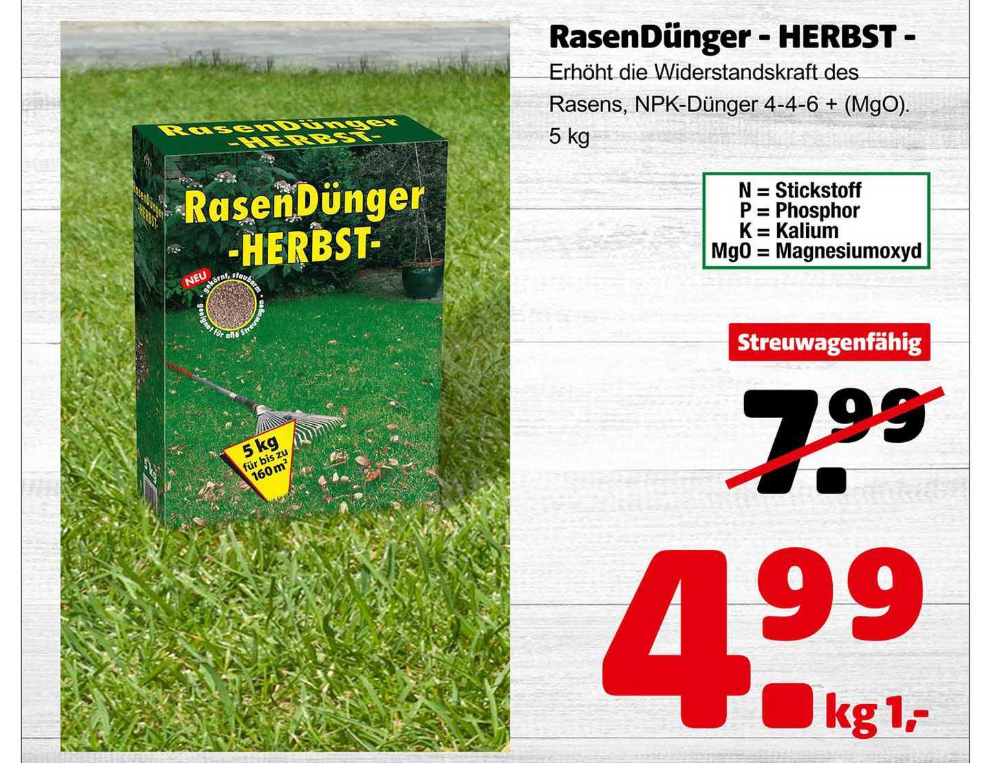 Hagebaumarkt Rasendünger - Herbst