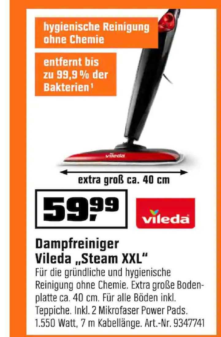 """OBI Dampfreiniger Vileda """"steam Xxl"""""""