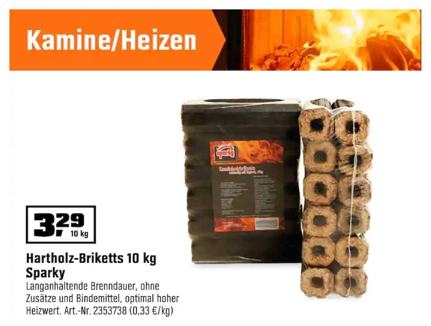 OBI Hartholz-briketts 10 Kg Sparky