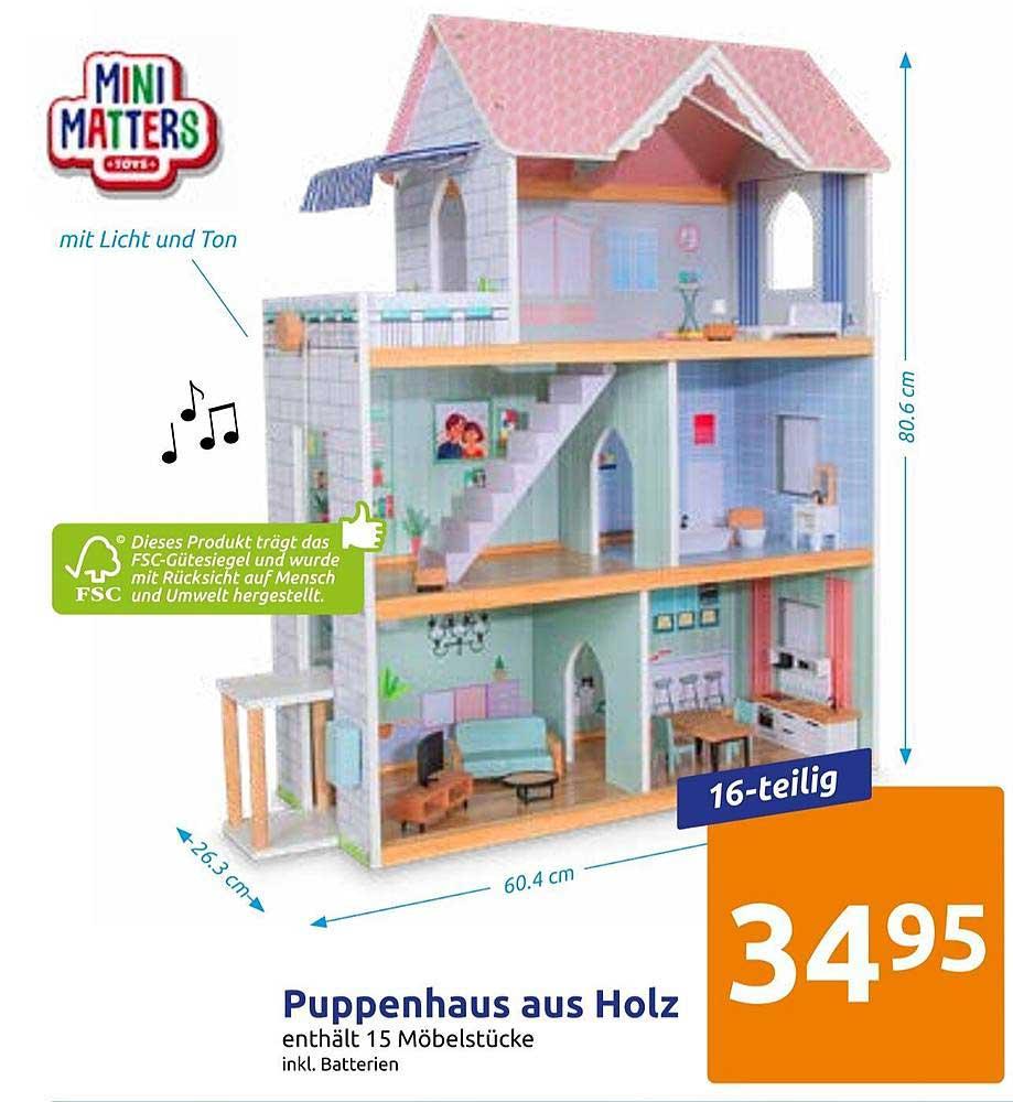 Action Mini Matters Puppenhaus Aus Holz