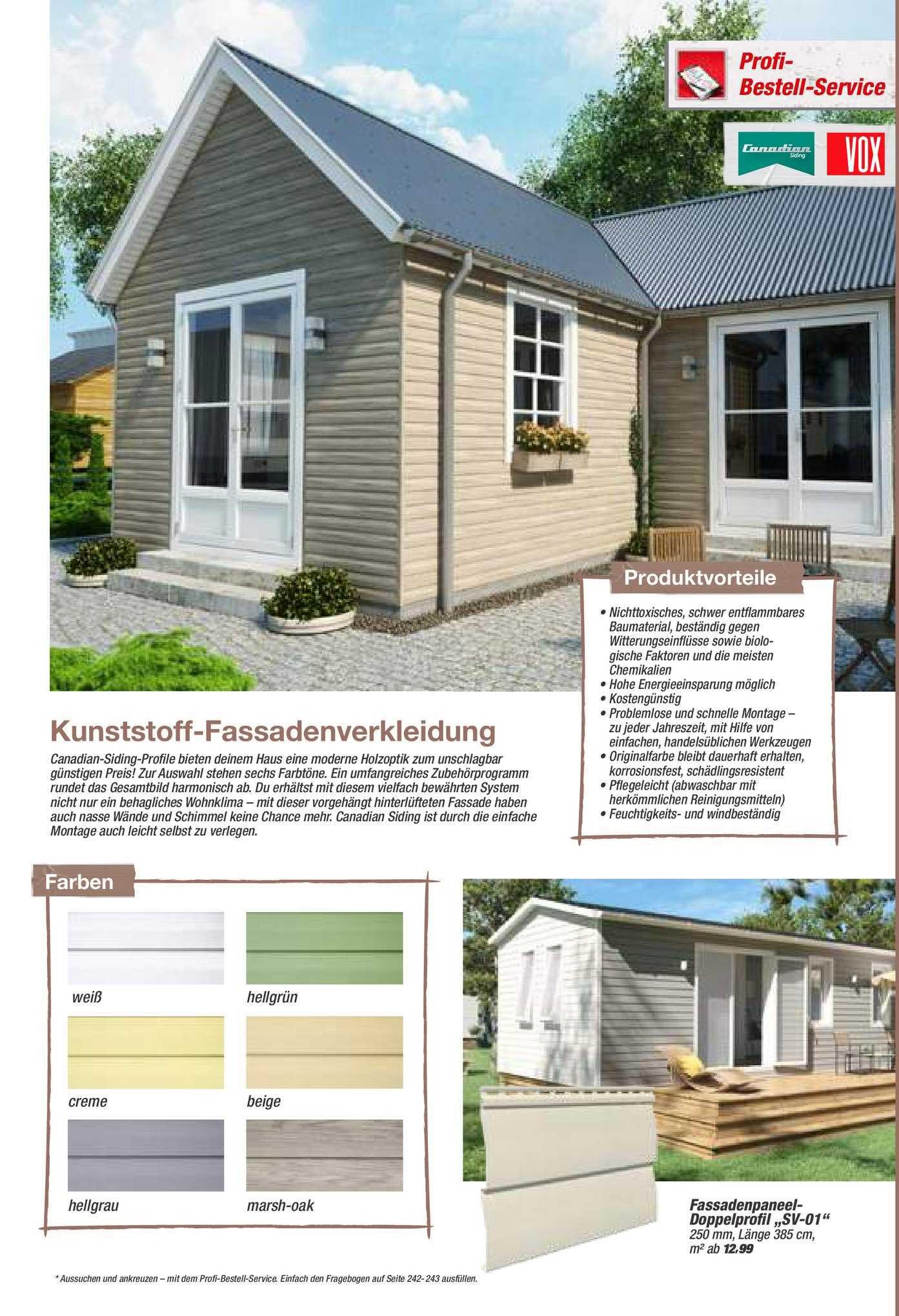 Toom Baumarkt Kunststoff Fassadenverkleidung