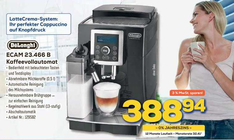 Euronics Delonghi Kaffeevollautomat Ecam 23.466 B