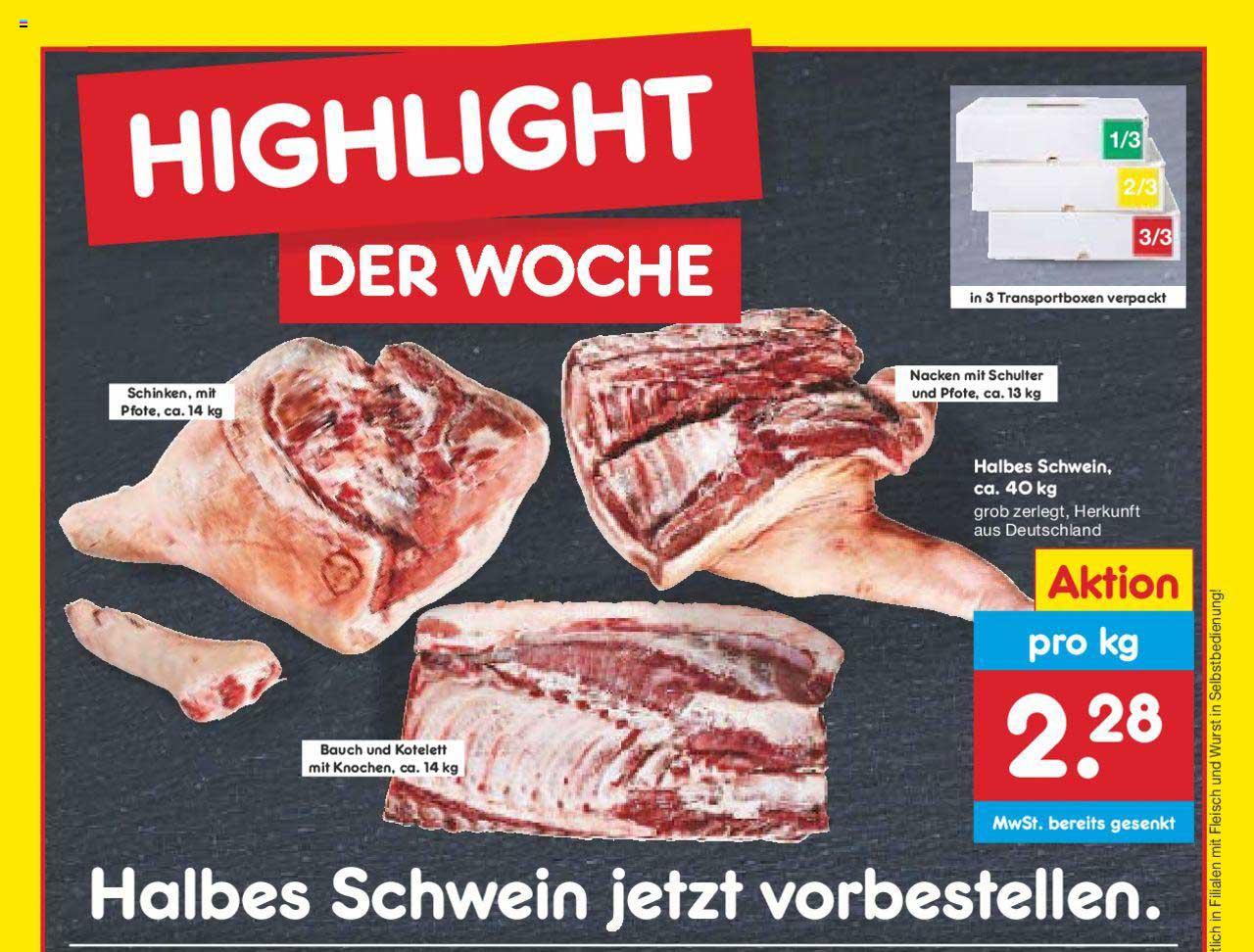 Netto Marken-Discount Halbes Schweine Ca. 40 Kg