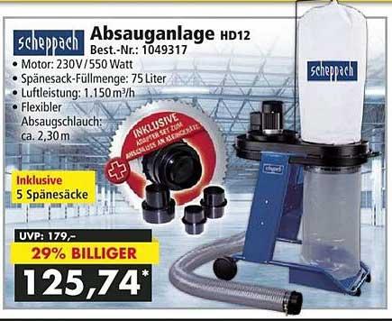 Norma24 Scheppach Absauganlage Hd12