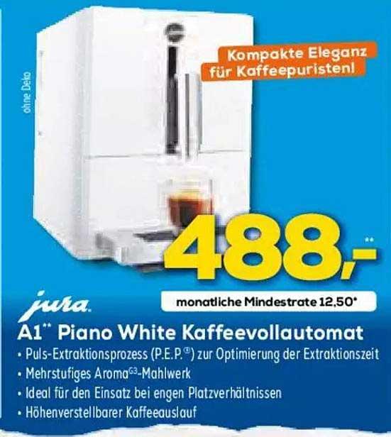 Euronics JURA A1 Piano White Kaffeevollautomat