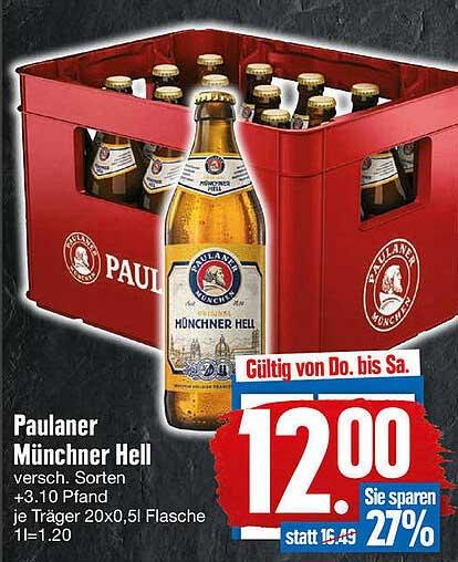 EDEKA Paulaner Münchner Hell