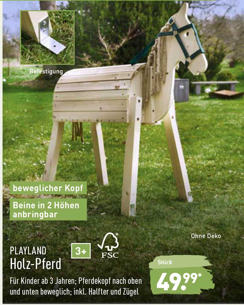 ALDI Nord Playland Holz-pferd