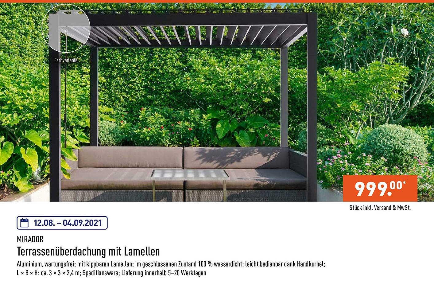 Lamellen Pergola Angebot bei Bauhaus