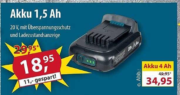 Sonderpreis Baumarkt Germania Akku 1.5 Ah