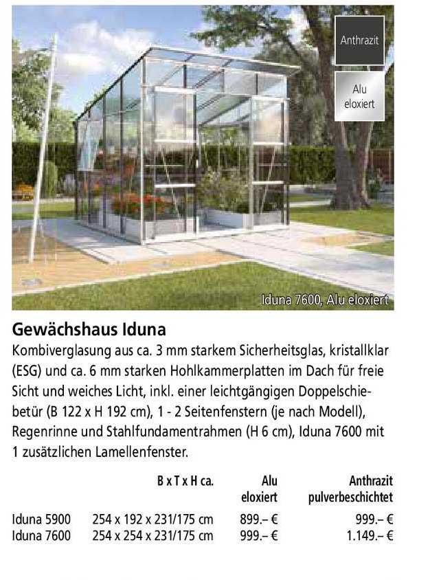 BauSpezi Gewächshaus Iduna