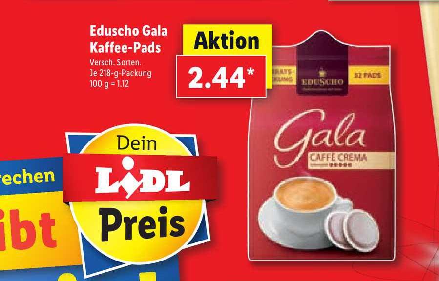 Lidl Eduscho Gala Kaffee-pads