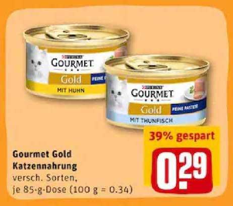 REWE Gourmet Gold Katzennahrung