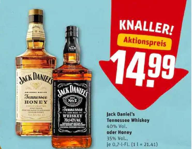 REWE Jack Daniel's Tennessee Whiskey Oder Honey