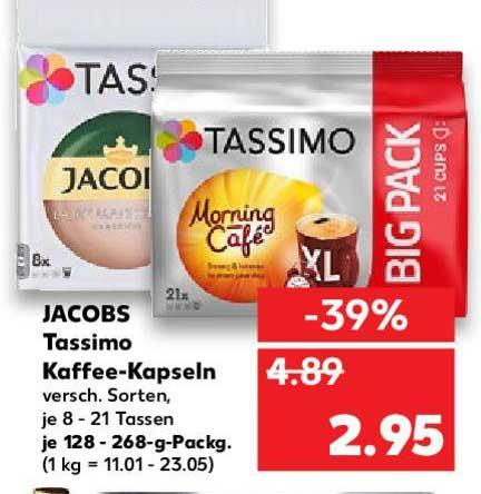 Kaufland Jacobs Tassimo Kaffee-kapseln