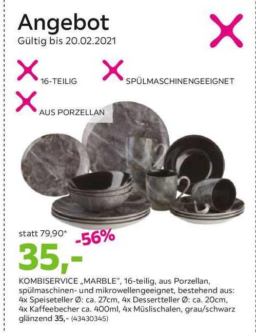 Mömax Angebot Kombiservice Marble
