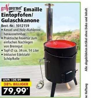 Norma24 Grillgourmet Emaille Eintopfofen Oder Gulaschkanone