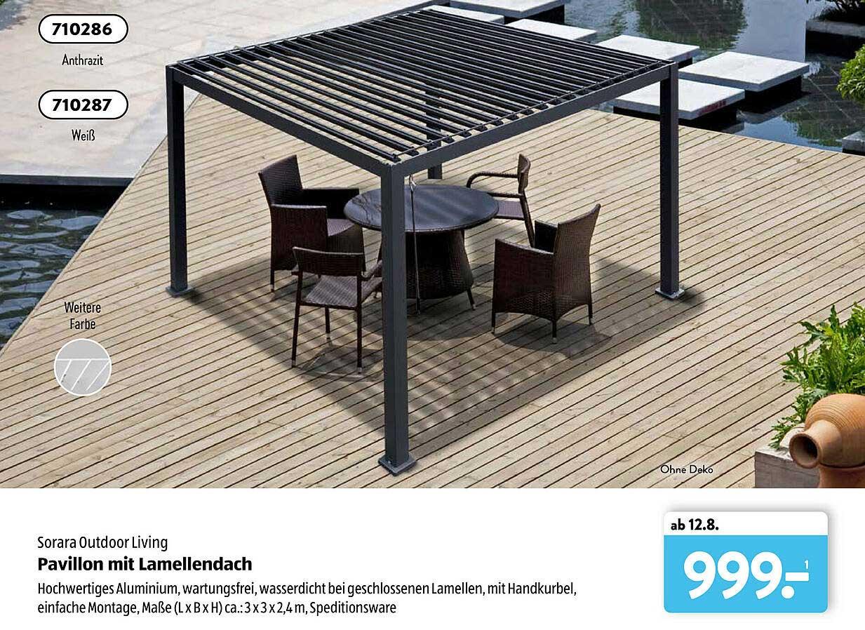 Pergola Mit Lamellendach Angebot bei Bauhaus