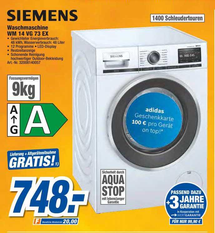 Expert Techno Land Siemens Waschmaschine Wm14vg73ex