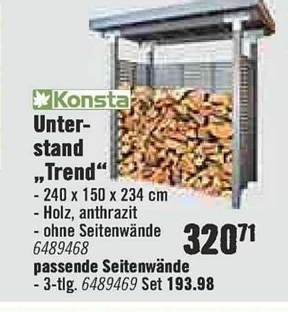 "Hornbach Konsta Unterstand ""trend"""