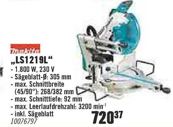 Hornbach Makita Ls1219l