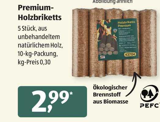 ALDI SÜD Premium Holzbriketts