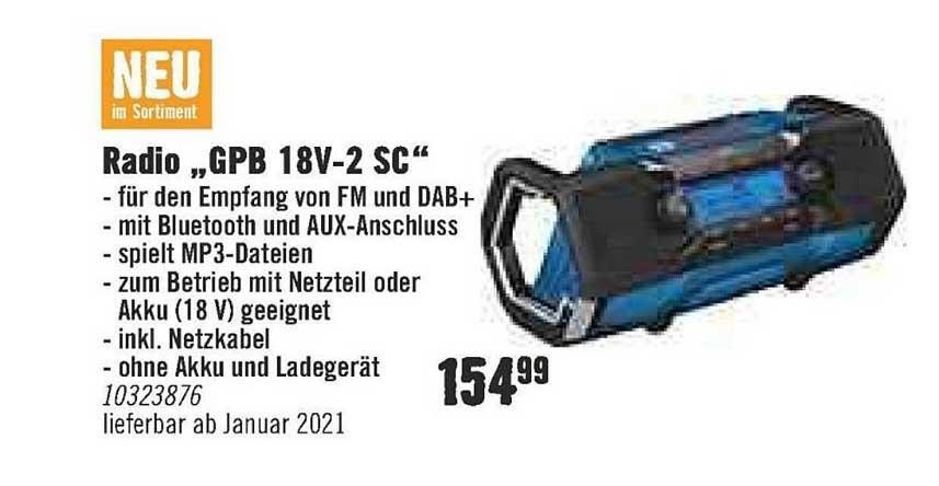 """Hornbach Radio """"GPB 18V 2SC"""""""