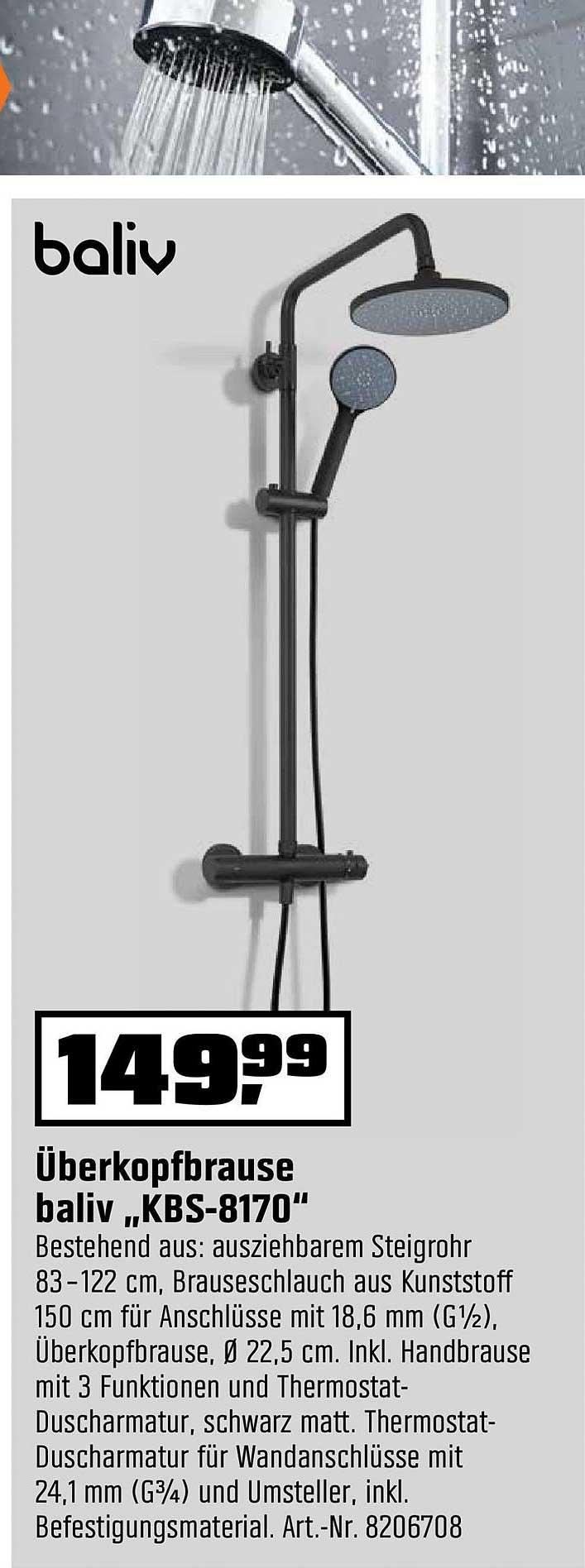 "OBI überkopfbrause Baliv ""kbs 8170"""
