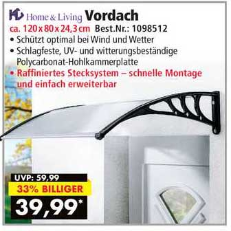 Norma24 Home & Living Vordach