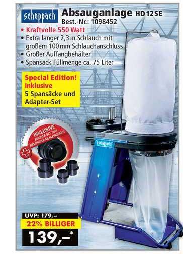 Norma24 Scheppach Absauganlage Hd12se