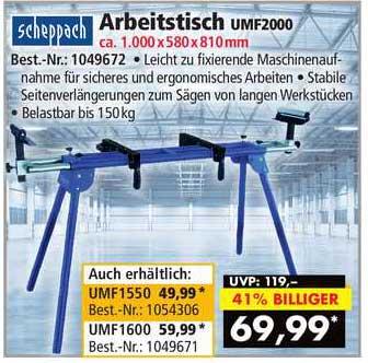 Norma24 Scheppach Arbeitstisch Umf2000