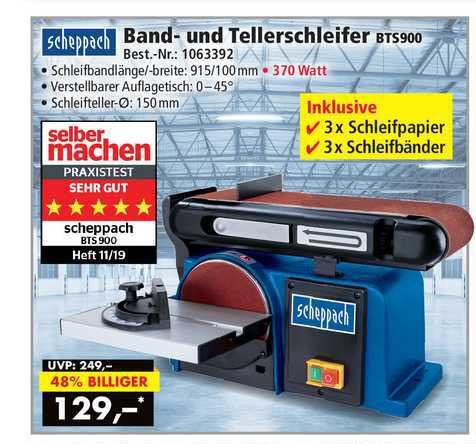 Norma24 Scheppach Band- Und Tellerschleifer Bts900