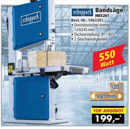 Norma24 Scheppach Bandsäge Hbs261