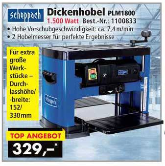 Norma24 Scheppach Dickenhobel Plm1800