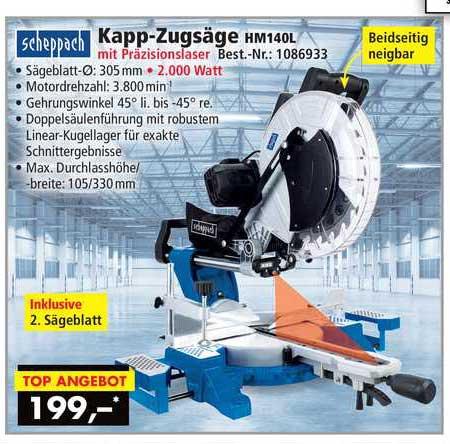 Norma24 Scheppach Kapp-zugsäge Hm140l