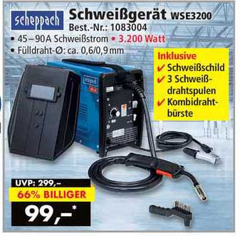 Norma24 Scheppach Schweißgerät Wse3200