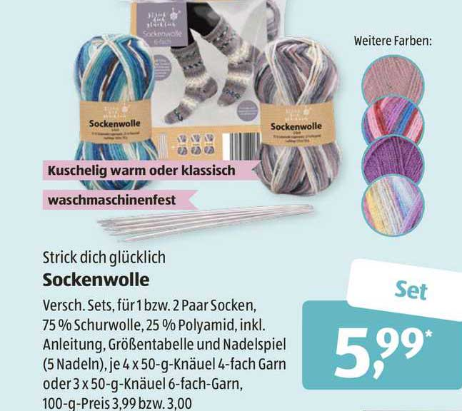 ALDI SÜD Sockenwolle