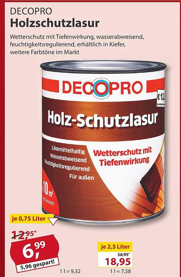 Sonderpreis Baumarkt Decopro Holzschutzlasur
